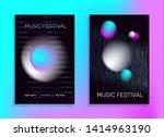 electronic music poster. fluid... | Shutterstock .eps vector #1414963190