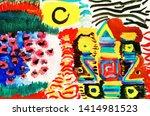 wonderland background. oil... | Shutterstock . vector #1414981523