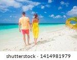 happy young couple having fun... | Shutterstock . vector #1414981979