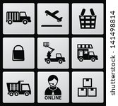 logistics icons vector | Shutterstock .eps vector #141498814