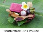 mangosteen soap made   from... | Shutterstock . vector #141498820