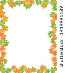 colorful leaves border isolated ... | Shutterstock .eps vector #1414991189