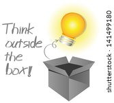 think outside the box   Shutterstock .eps vector #141499180