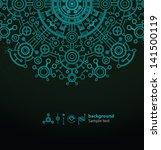 Alien Background 03  Vector