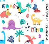seamless vector pattern with... | Shutterstock .eps vector #1415001986