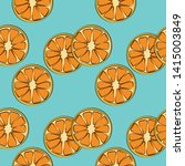 Orange Seamless Pattern. Hand...