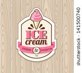 vintage frame with icecream | Shutterstock .eps vector #141500740