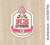 vintage frame with icecream | Shutterstock .eps vector #141500740