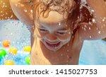portrait of a sweet little boy... | Shutterstock . vector #1415027753