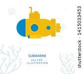 submarine. yellow submarine and ... | Shutterstock .eps vector #1415033453
