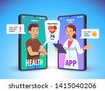 patient talking to doctor using ... | Shutterstock .eps vector #1415040206