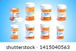 pill bottles. open plastic... | Shutterstock .eps vector #1415040563
