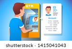 atm face recognition concept.... | Shutterstock .eps vector #1415041043