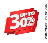 up to 30  off special offer 3d... | Shutterstock .eps vector #1415042009