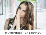 portrait of young woman | Shutterstock . vector #141504490