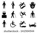 injury icons set | Shutterstock .eps vector #141504544