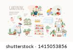 garden  flowers and plants at... | Shutterstock .eps vector #1415053856