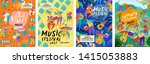posters for a summer live music ... | Shutterstock .eps vector #1415053883