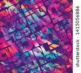 abstract seamless text print.... | Shutterstock .eps vector #1415056886