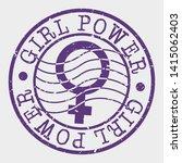girl power stamp. woman... | Shutterstock .eps vector #1415062403