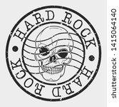 hard rock stamp. music skull... | Shutterstock .eps vector #1415064140
