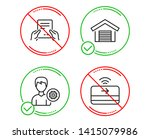 do or stop. receive file ... | Shutterstock .eps vector #1415079986
