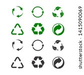 recycling icon for product... | Shutterstock . vector #1415090069