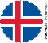 iceland flag illustration... | Shutterstock .eps vector #1415094050