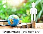 human model graduation set on... | Shutterstock . vector #1415094170