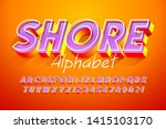 colorful 3d display font design ... | Shutterstock .eps vector #1415103170