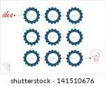 concept vector template with... | Shutterstock .eps vector #141510676