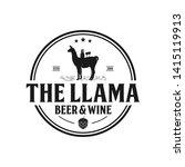 the llama vintage logo  beer... | Shutterstock .eps vector #1415119913
