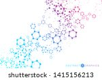 science network pattern ... | Shutterstock .eps vector #1415156213