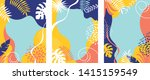 set of abstract background... | Shutterstock .eps vector #1415159549