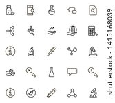 research line icon set.... | Shutterstock .eps vector #1415168039
