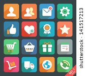 universal flat icon set for web ...