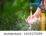 Outdoor standing spigot water...