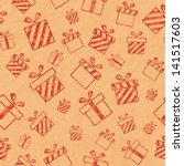 seamless retro pattern with... | Shutterstock . vector #141517603