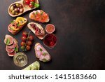 brushetta or traditional... | Shutterstock . vector #1415183660