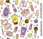 seamless pattern with cute... | Shutterstock .eps vector #1415185109