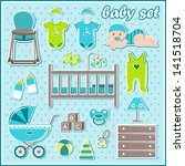 set of baby boy icons. raster... | Shutterstock . vector #141518704