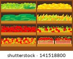 vegetable shop. raster... | Shutterstock . vector #141518800