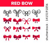 red bow and ribbon vector color ... | Shutterstock .eps vector #1415191856