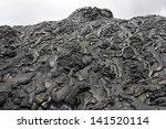 lava field of basaltic pahoehoe ...