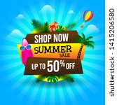 summer sale banner discount... | Shutterstock .eps vector #1415206580
