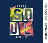 urban denim slogan graphic... | Shutterstock .eps vector #1415209250