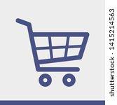 shopping cart icon. vector... | Shutterstock .eps vector #1415214563