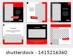 editable square frame banner... | Shutterstock .eps vector #1415216360