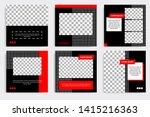 editable square frame banner... | Shutterstock .eps vector #1415216363