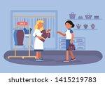 clothing shop sale flat vector... | Shutterstock .eps vector #1415219783